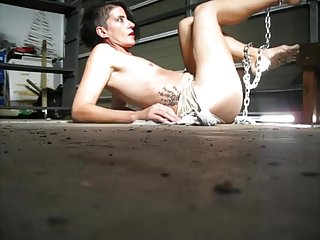 Cleo the Dirty Slave Cleans the floor; Dirty Feet