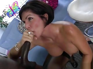 Amazing breasty mom Shay Fox got fucked in interracial XXX video