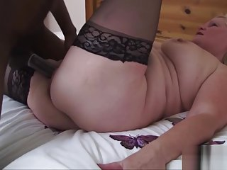 Sexy Granny Enjoys Big Black Dick in Her Pussy