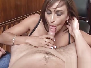 Sexy MILF gives best POV blowjob