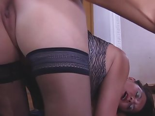 Busty-Brunette-MILF anal taken by young Guy