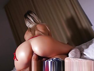 Russian Milf Blowjob and Big Booty Riding on Huge Cock